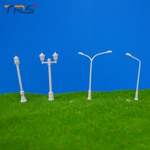 400 Pcs/Lot 4 types Streets Lamp Model Scale 1:500 Plastic Lamppost Model Railway Street Light