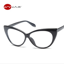 Fashion Women Cat Eye Glasses Frames Cat's Eye Clear Eyeglasses Ladies Spectacles Frame Retro  Women's Glasses Brand Designer