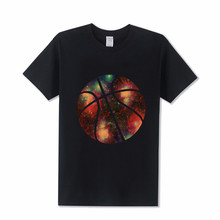 Amazing Basketballer galaxy T shirt Men Hip Hop Black t-shirt 2017 fashion tee shirts for male Juventus Jersey Streetwear tshirt(China)