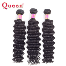 Queen Hair Products Deep Wave Mongolian Hair Bundles 1piece Remy Human Hair Extensions 10-28Inch can be dyed no split ends