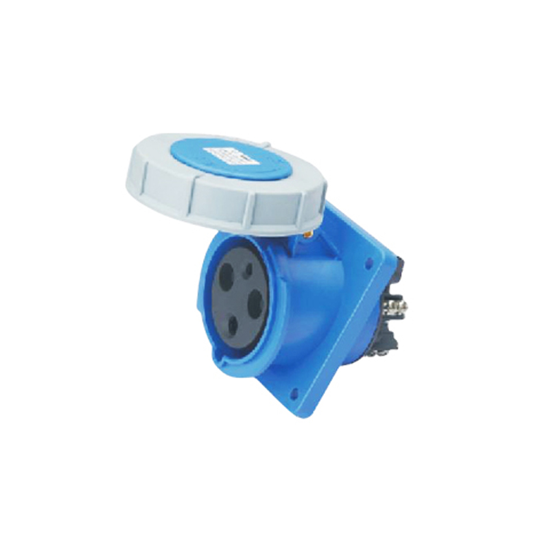 125A 3Pin industrial hide Inclined socket connector SF-443 concealed installation socket 220-240V~2P+E cable connector IP67<br>