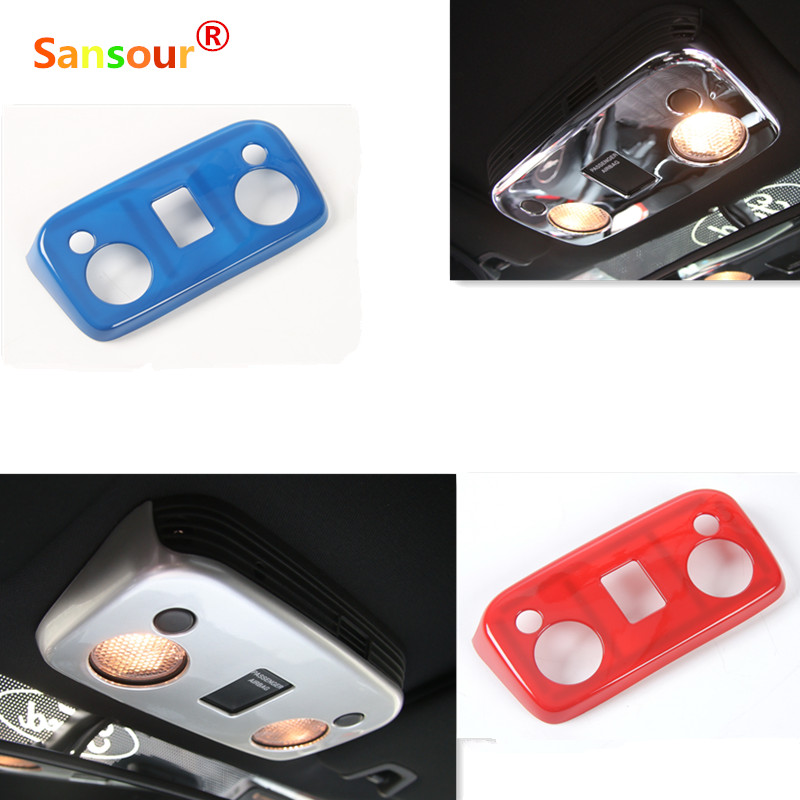 Car Styling Top Reading Lights Trims Panel Covers Interior Moulding ABS For Ford Mustang 2015 Up Red Blue Silver(China (Mainland))