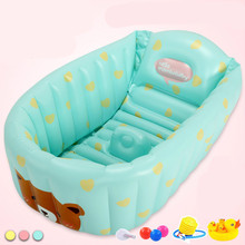 Buy Inflatable Large Swimming Pool Newborn Children's Bathtub Children Bath Thickening Insulation Oversized Folding for $86.40 in AliExpress store