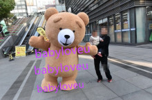 New High quality teddy bear Mascot Costume costume cosplay halloween costume christmas Crazy Sa
