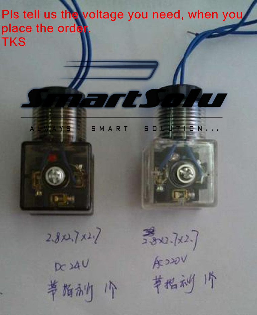 free shipping DIN connector, for DC24V or AC220V, Sizes:28*27*27MM, with light, pls tell us the voltage when you order<br><br>Aliexpress