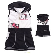 girls summer dresses 2017 hello kitty dress cartoon dress little girls dresses costume for kids clothes for sale MS0050