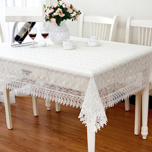Embroidered Lace Tablecloth TV Table Cloth Cover Runner 130 x 180 150 x 210 40 - 150cm x 60 x 230cm Square 60 85 110 White Pink