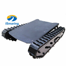 Original ismaring Metal Tank Chassis with Rubber Crawler Belt Tracked Vehicle Excavator Robot Chassis Remote Control DIY RC Toy