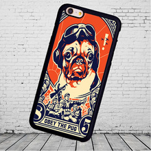 Pug Cute Obey Pet Dog Printed Soft TPU  mobile cell phone case  for iphone 5s 4s 5c 6 6 7plus for Samsung S3 S4 S5 S6 S7 S8 edge
