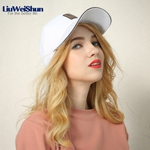 [LIUWEISHUN] Snapback Baseball Caps Unisex Beisbol For Men Women Cotton Golf Logo Solid Sport Hats Gorra White/Black Women Caps(China)