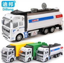 2016 Big Size Alloy Pull Back Toy Car Children's Toys Loading Garbage Truck/Sprinkler car/Express car 1:48 Metal model toy Gift(China)