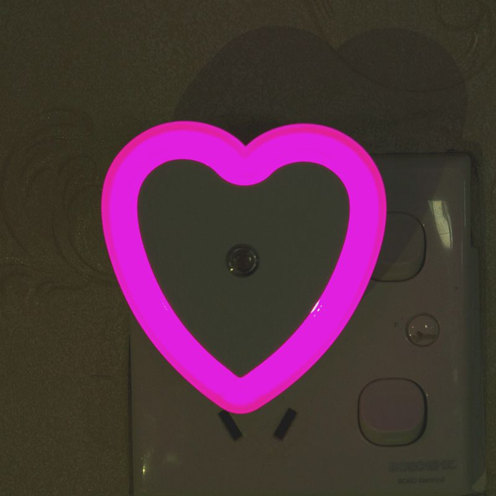 SuperNight Heart AC LED Night Light Intelligent Light Control Sensor Corridor Stairs Bedroom Bedside Toilet Home Decor Wall Lamp (3)