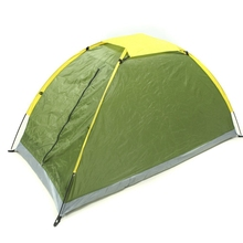Outdoor camping tent single People camping tent Army Green