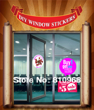 full color window graphic stickers printing, die cut sticker, any shapes stickers avaiable(China)
