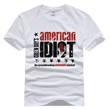 Red rock band Green Day T-shirt cotton top Brand t shirt men new high quality