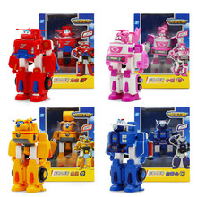 2017 New styles 4 models Super Wings Slide pull back Airplane Robot PVC Slide Plane Action Figures Toys Set For Christmas Gifts(China)