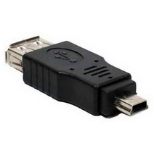 1PC Black F/M USB 2.0 A Female To Micro / Mini USB B 5 Pin Male Plugt Adapter Converter Connector up to 480Mbps