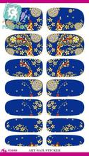 Rocooart K5649 Water Transfer Nails Art Sticker Phoenix Design Flowers Decor Blue 3d Manicure Sticker Minx Nail Decals Cheap