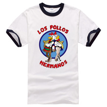 Breaking Bad Shirt LOS POLLOS Hermanos T-shirt Brothers Chicken Short Sleeve Hipster Tops 2017 Summer New Fashion T shirts Men's