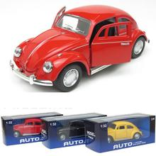 1:32 Scale  Model Toy Diecast Car Volkswagen Beetle 1967 Classic Vintage Car Mini Electric Kids Cars Toy As Children Gift