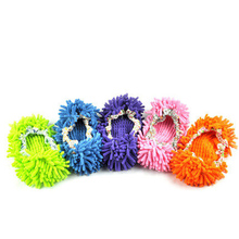 1pcs Portable Dust Mop Slipper House Cleaner Lazy Floor Dusting Cleaning Foot Shoe Cover Dust Mop Slipper Random Color