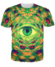Psychedelic Eye T-Shirt trippy pattern leads to an all-seeing eye vibrant design t shirt Women Men tees Summer Style tops