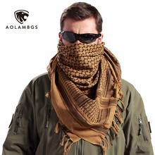 Tactical Scarves Military Windproof Winter Scarf Men Muslim Hijab Tactical Shawl Keffiyeh Scarves 100% Cotton Scarf Unisex