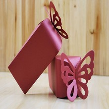 New Sale 10 pcs Triangle butterfly paper candy chocolate gift box for wedding birthday tea party favor