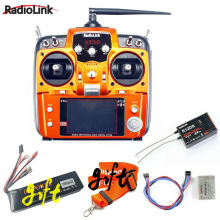 Promotion! RadioLink AT10 II 2.4Ghz 10CH RC Transmitter +R12DS Receiver PRM-01 Voltage Return Module+11.1v 2200mah battery+Strap