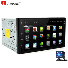 Junsun Universal 2 din Android 6.0 Car DVD player GPS+Wifi+Bluetooth+Radio+Quad Core 7 inch 1024*600 screen car stereo radio(China)