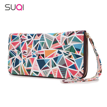 SUQI Women Wallet Purse Luxury Designer High Quality Famous Brand Female Walle For Women Fashion Lady Pu Leather Wallets