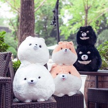 Creative cartoon Pomeranian dog Plush Toys Dog Cloth dolls plaything children birthday girl Kids Toys Sphere Pillow Cushion