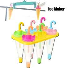 NEW 6 Grids Popsicles Mould Summer DIY Ice Lattice Umbrella Modeling Ice Sticks Mold Maker Home Kitchen Ice Cream Tools Gadgets(China)