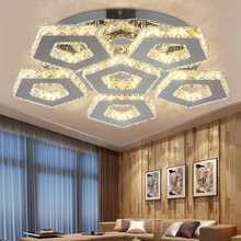 Fashion new led crystal Chandeliers led lamps stainless steel living room lamps Chandelier High-power led lustre light Chandelie