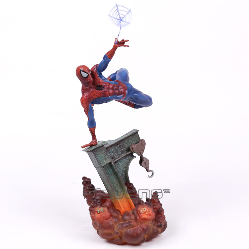 Spiderman Toys The Amazing Spider Man with Light PVC Figure Collectible Model Toy 30cm<br>