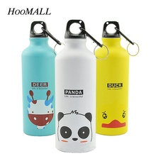 Hoomall My Cartoon Animal Pattern 500ML Sports Water Bottle Aluminum Creative Outdoors Camping Kettle for Kids Children Gifts(China)