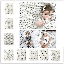 Newborn Infant Panda Cross XOXO Swaddle Baby Cotton Bamboo Blanket Parisarc Wrap