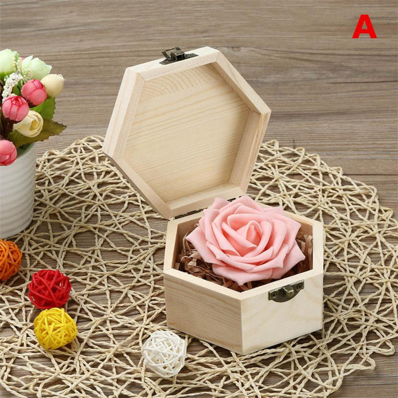 2018 new Fashion Portable Heart Shaped Wooden Storage Box Jewelry Wedding Gift Case Reusable  Box Hot selling good quality C020807