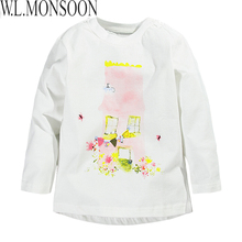 Girls T shirt Baby Girl Clothes 2017 Spring Brand Baby T-shirt Kids Clothes Character Pattern Girls Tops Tees Children T shirts