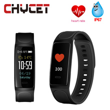 Buy Chycet Colorful Touch Screen Smart Bracelet Heart rate monitor Blood pressure watch Waterproof Sport Fitness tracker PK Mi Band for $24.97 in AliExpress store