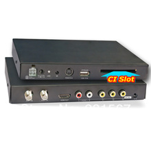 Factory price Car DVB T Digital MPEG4, H.264, 2 tuner 250km/h  car HD  TV CI CAM CA for conax viaccess irdeto