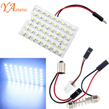 High Power T10 W5W C5W C10W Festoon 3 Adapters 48LED auto Panel lamp reading Lights Car interior map Dome light 12V Lamp Bulb