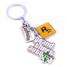 PS4 GTA 5 Game keychain Grand Theft Auto 5 Key Chain For Fans Xbox PC Rockstar Key Ring Holder 4.5cm Jewelry Llaveros 5D2