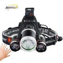 30W IR Sensor Headlight Induction led Usb Rechargeable Lantern Headlamp 1T6+2R5 8000 Lumen 4 mode High Power LED Head lamp