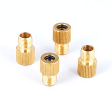 4PCS/LOT Brass Copper Schrader Presta Convertor Bicyle F/V A/V valve Converter Bike Pump Nozzle Cycling Pumping Inflator Parts(China)