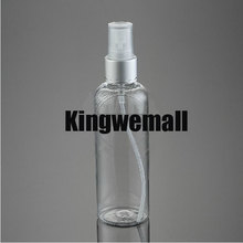 300pcs/lot 100ml PET Plastic empty beautiful perfume water SPRAY bottle CLEAR  color