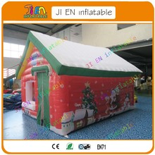 Free air shipping,4*3*3.5mH in stock x-mas party Inflatable santa snowman Grotto tent House for Christmas Decoration(China)