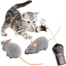 New Hot Sale Scary Cute RC Remote Controller Simulation Plush Mouse Mice Kid Toy Gifts