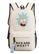 New Anime Rick and Morty Backpack Anime bags Student oxford Schoolbags
