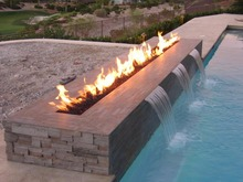 on sale outdoor fireplace with 62 inch stainless steel bio ethanol burner chimeneas(China)